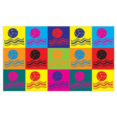 Water Polo Pop Art Wall Art Canvas Art